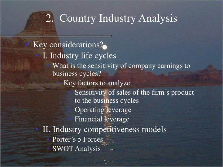 2.  Country Industry Analysis