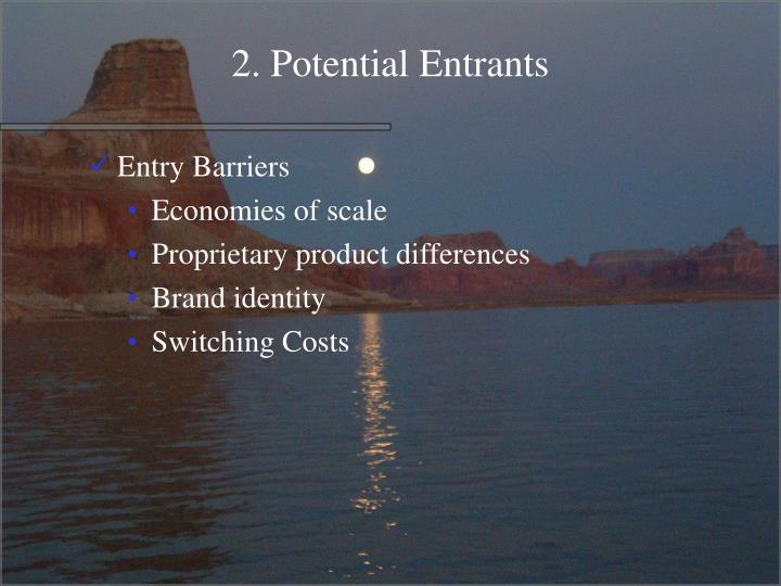 2. Potential Entrants