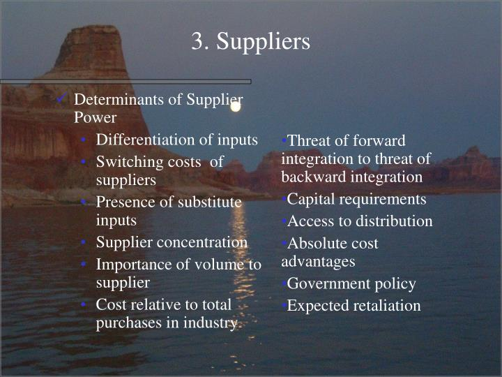 3. Suppliers