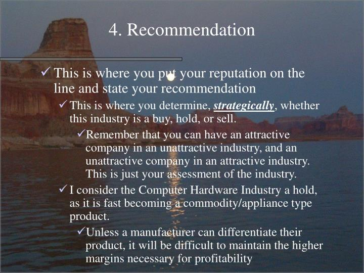 4. Recommendation