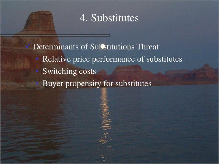 4. Substitutes