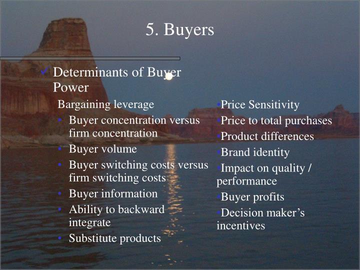 5. Buyers