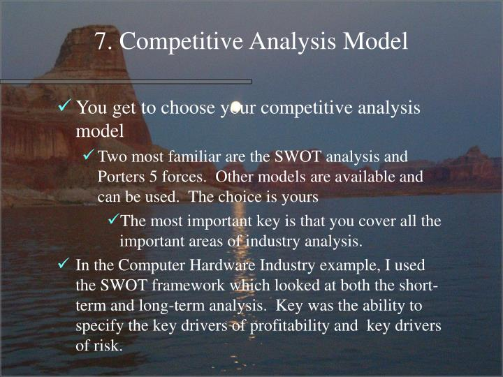 7. Competitive Analysis Model