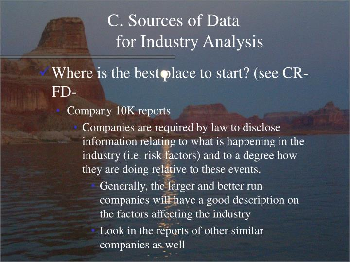 C. Sources of Data