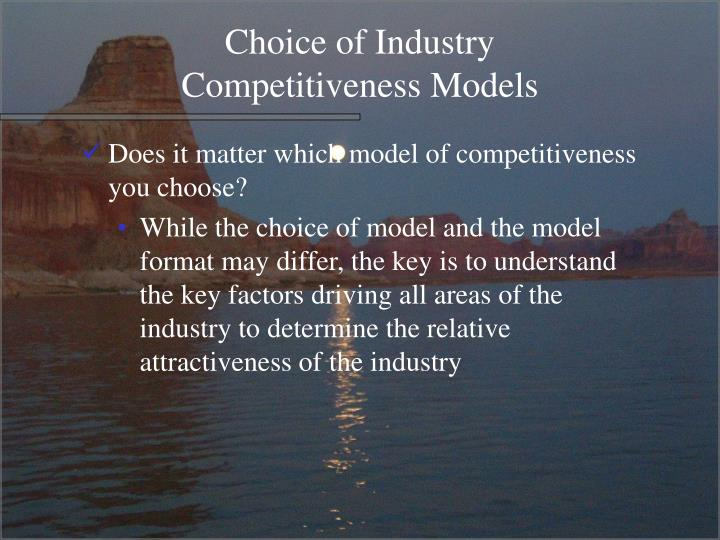 Choice of Industry