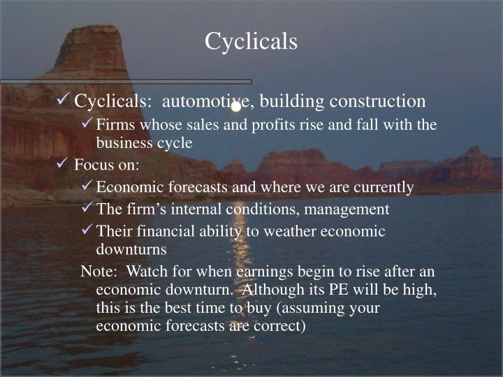 Cyclicals