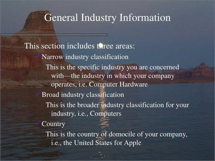 General Industry Information