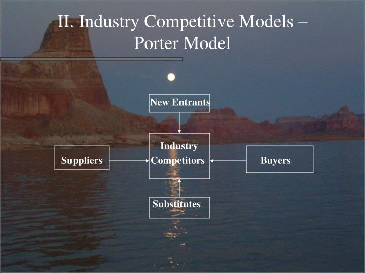 II. Industry Competitive Models –