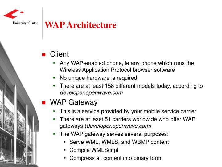 WAP Architecture