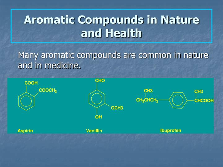 Aromatic Compounds in Nature and Health