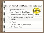 the constitutional convention cont