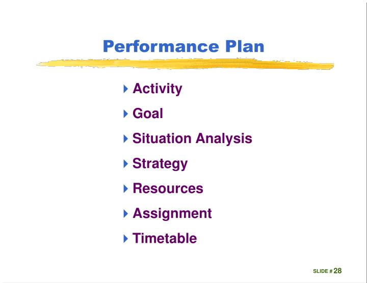 Performance Plan