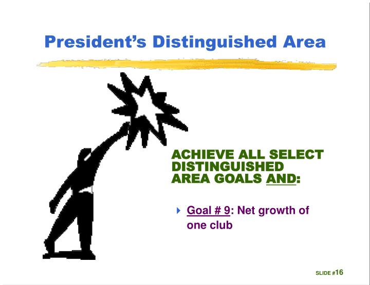 President's Distinguished Area
