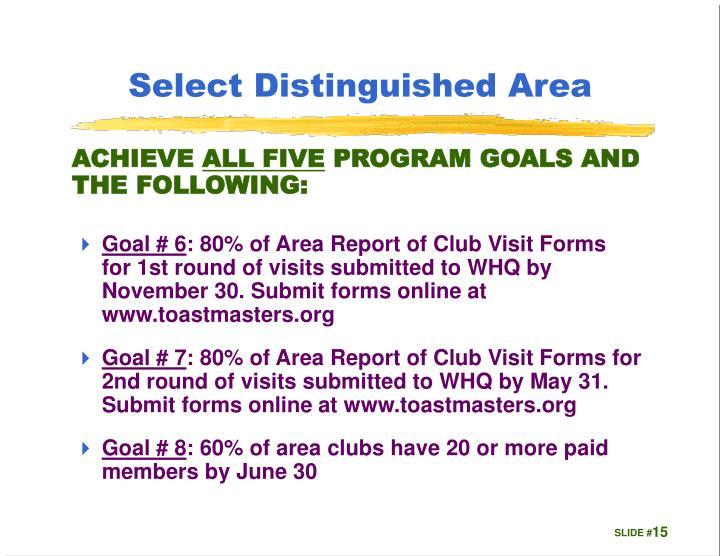 Select Distinguished Area