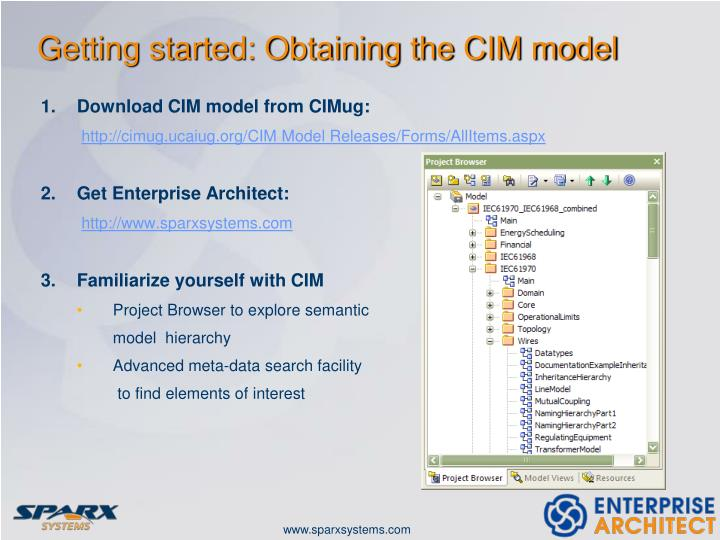 Getting started: Obtaining the CIM model
