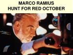 marco ramius hunt for red october