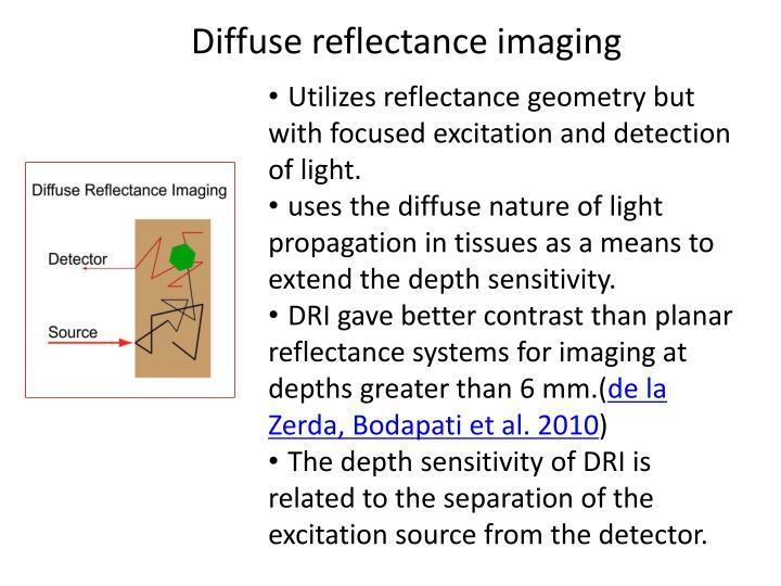 Diffuse reflectance imaging