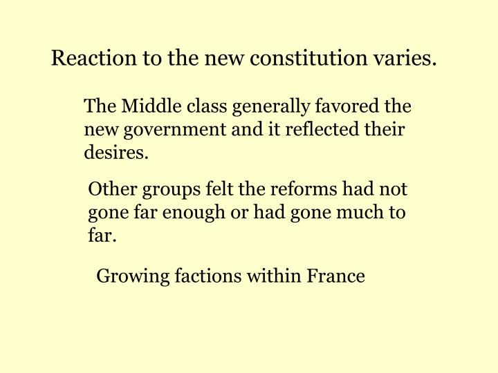 Reaction to the new constitution varies.