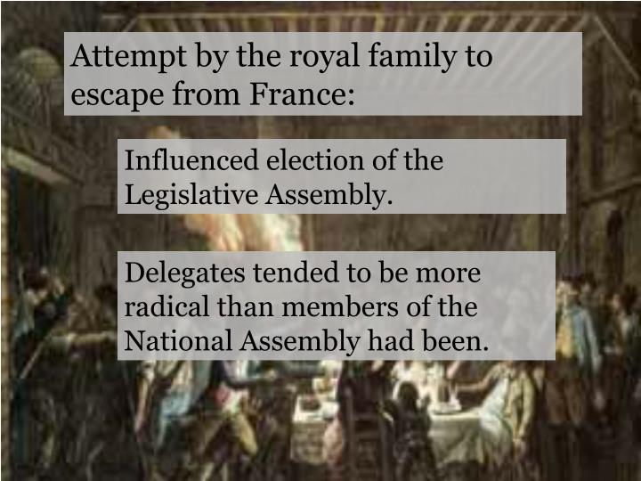 Attempt by the royal family to escape from France: