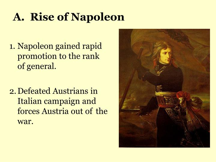 A.  Rise of Napoleon