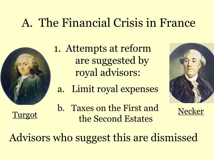 A.  The Financial Crisis in France