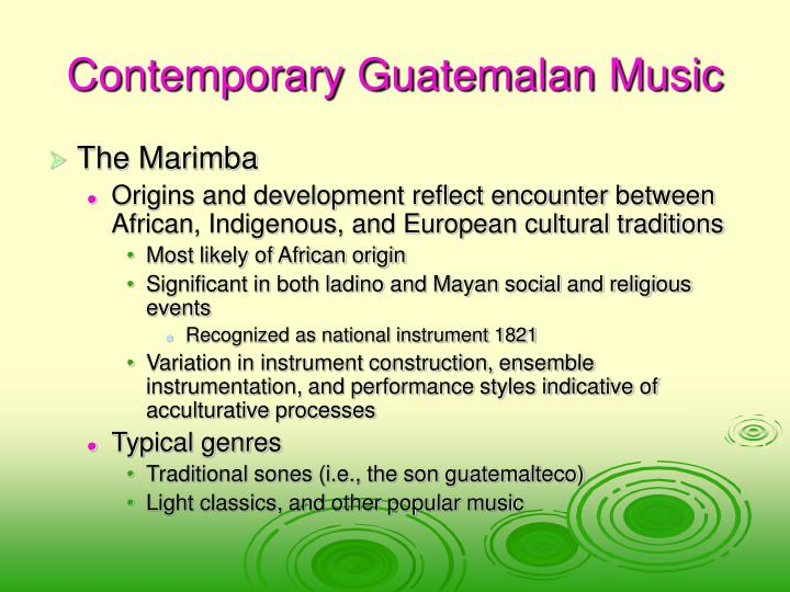 Contemporary Guatemalan Music