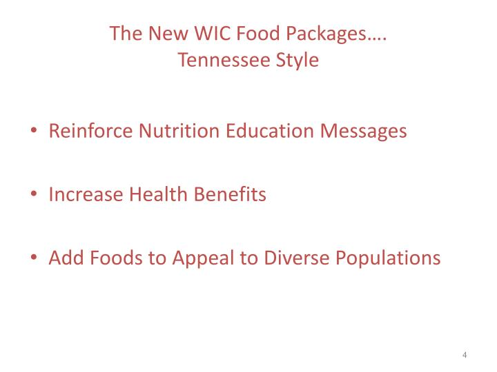 The New WIC Food Packages….