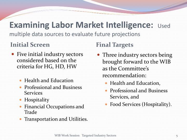 Examining Labor Market Intelligence: