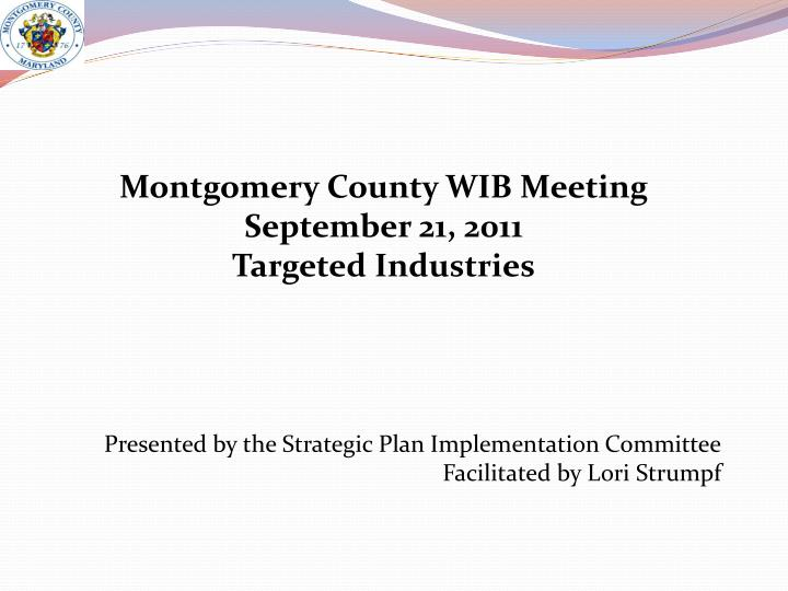 Montgomery County WIB Meeting