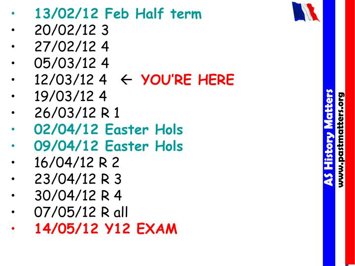 13/02/12 Feb Half term