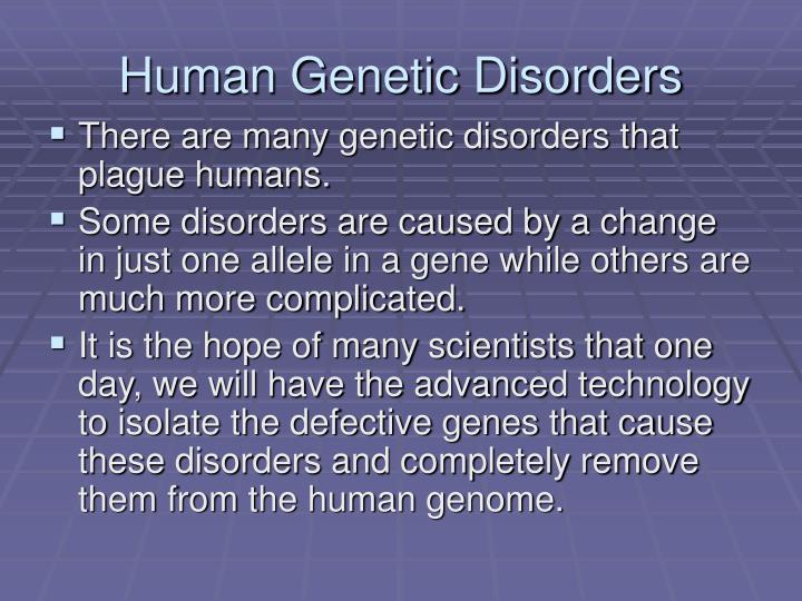 Human Genetic Disorders