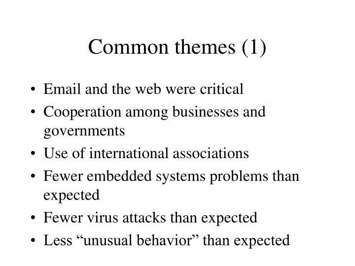 Common themes (1)