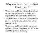 why was there concern about russia etc