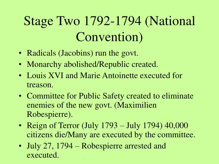 Stage two 1792 1794 national convention