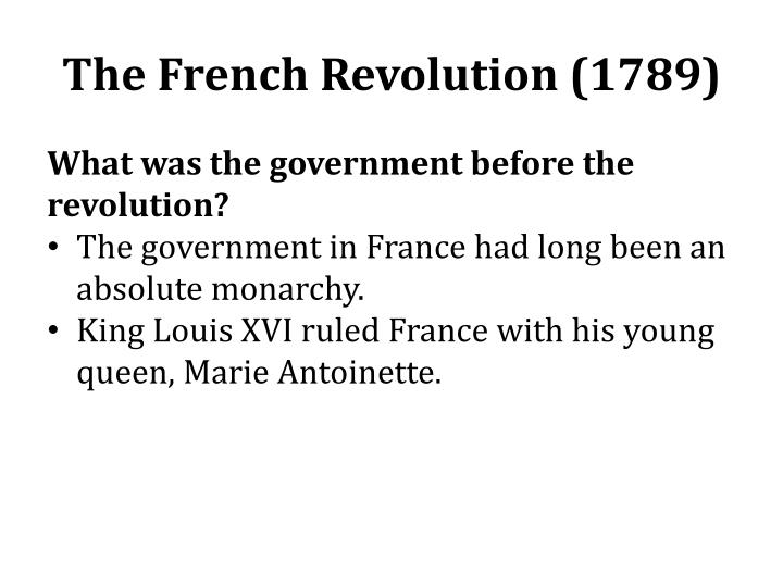 The French Revolution (1789)