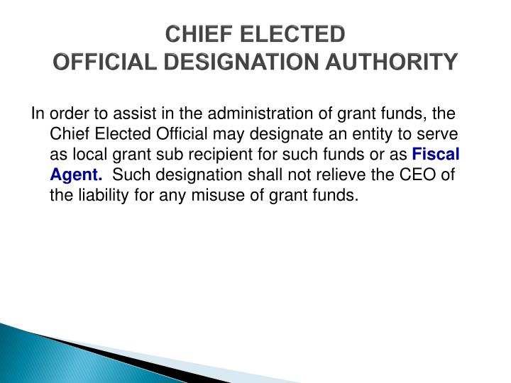 CHIEF ELECTED