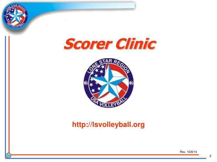 Scorer Clinic