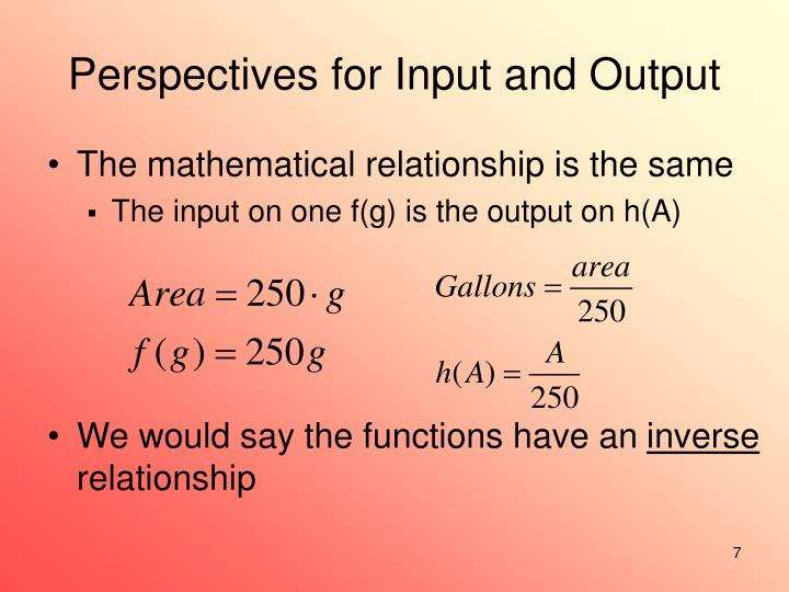 Perspectives for Input and Output