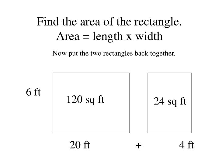 Find the area of the rectangle.