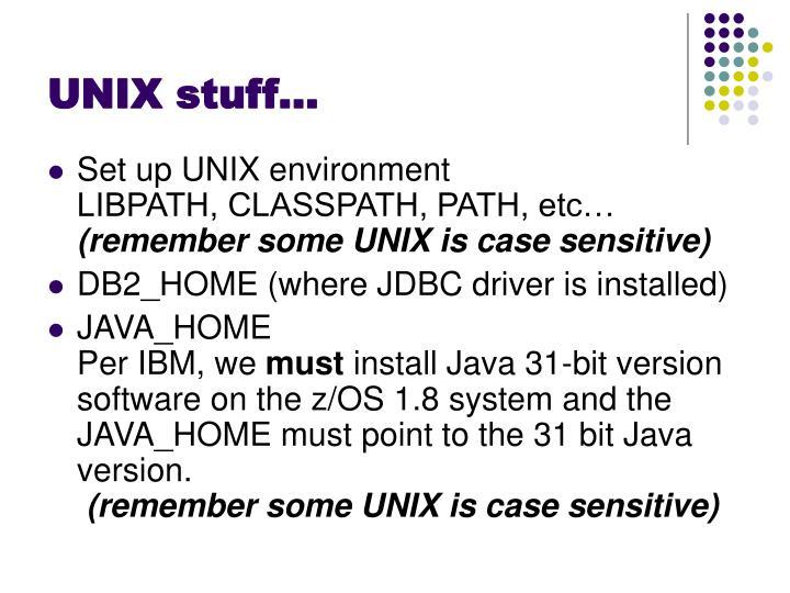 UNIX stuff…