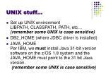 unix stuff