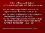 effect of placement stability on emotional and social well being outcomes