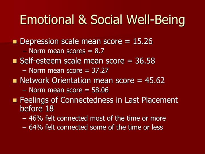 Emotional & Social Well-Being
