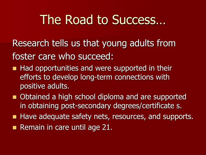 The Road to Success…