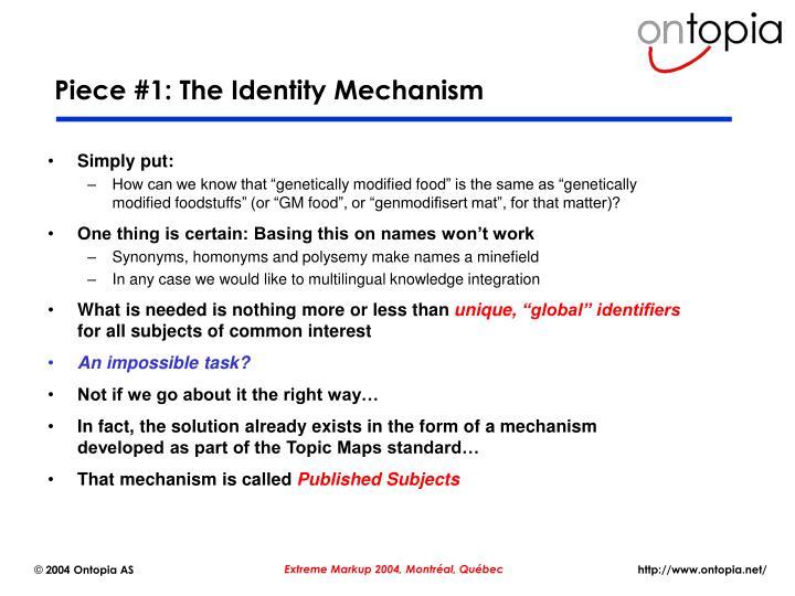 Piece #1: The Identity Mechanism