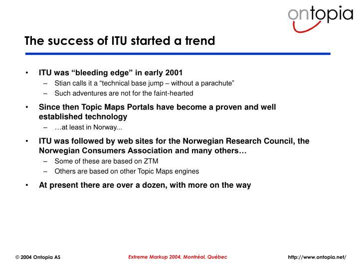 The success of ITU started a trend