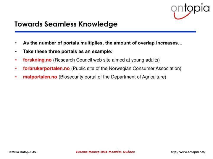 Towards Seamless Knowledge