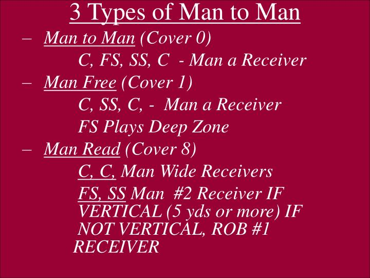 3 Types of Man to Man