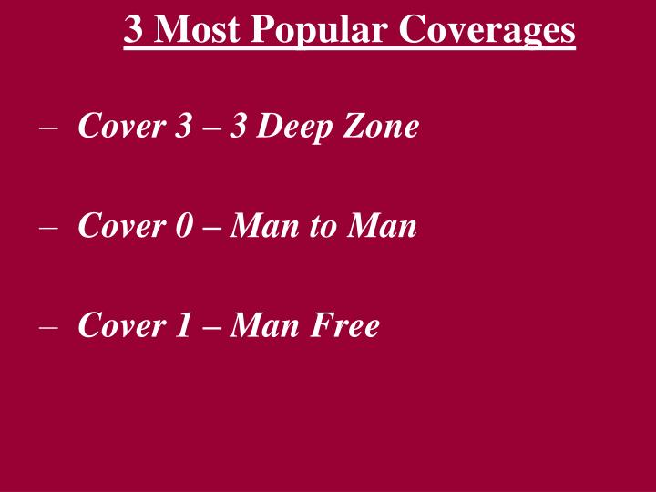 3 Most Popular Coverages