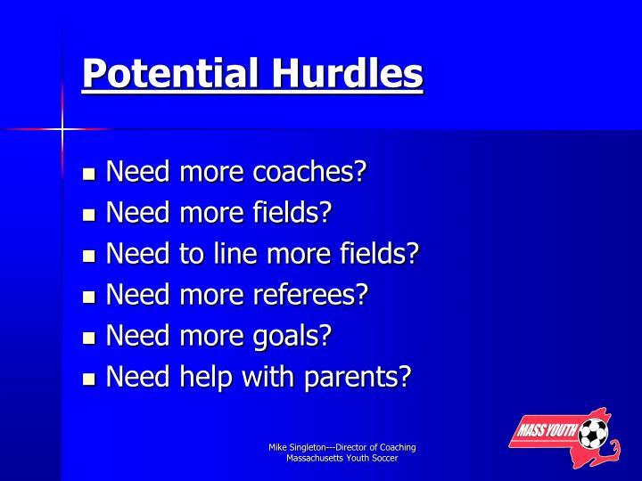 Potential Hurdles